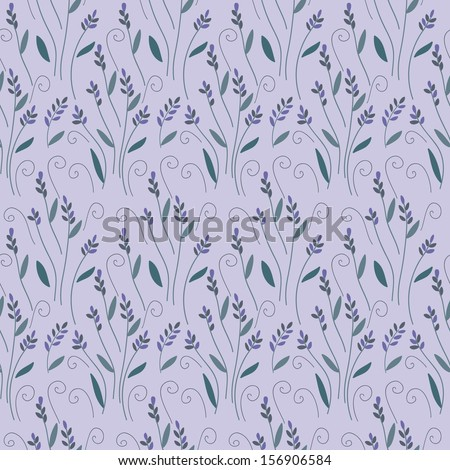 lavender floral seamless bunch pattern - stock vector