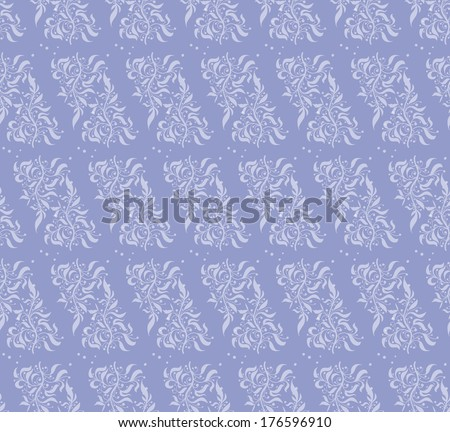 Lavender Floral Seamless Pattern - stock vector