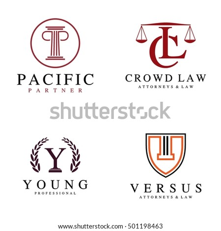 Law and attorney logo in alphabet