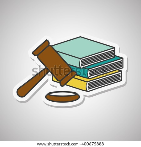 law and justice icon design, vector illustration