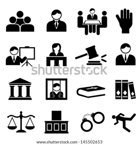Law and legal icon set