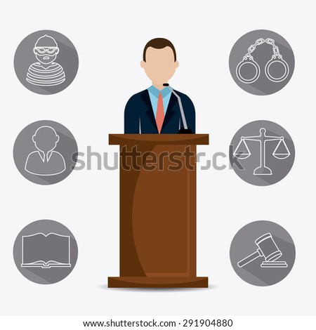 Law and order design, vector illustration eps 10. - stock vector