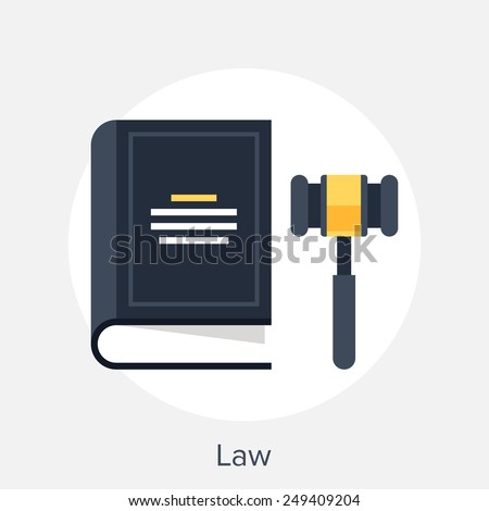 Law Concept - stock vector