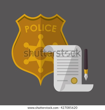 Law concept. Justice icon. Colorful icon, editable vector