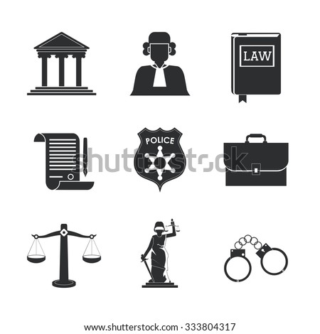 Law concept with justice icons design, vector illustration 10 eps graphic.