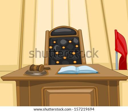 Law Court. Cartoon Background. Vector Illustration EPS 10. - stock vector
