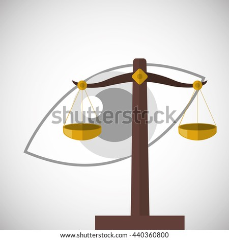 Law design. Justice icon. Flat illustration, vector graphic