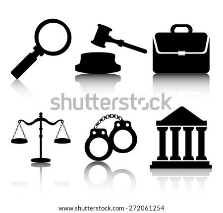 Law design over white background, vector illustration. - stock vector