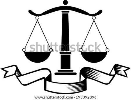law firm justice scale stock vector hd (royalty free) 193092896