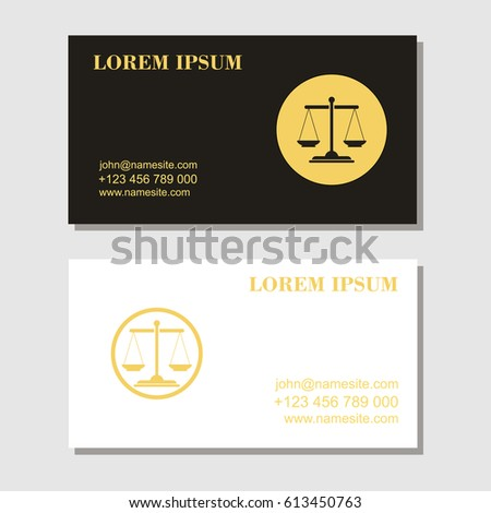 Law firm law office lawyer services business card stock vector law firmlaw office lawyer services card design template reheart Choice Image