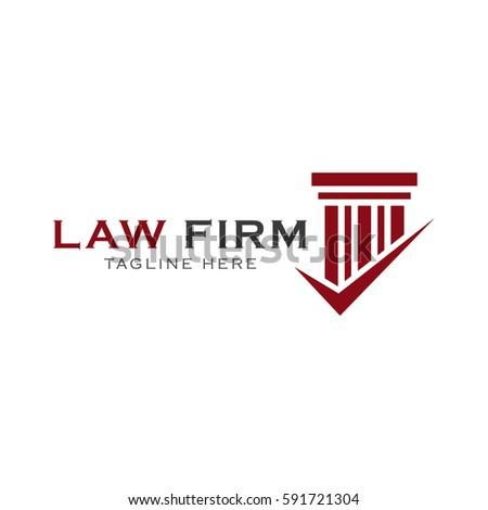 Law Firm Logo Design Stock Vector 591721283 Shutterstock