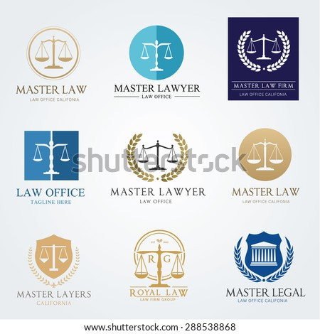 Law office logo collection. The judge, Law firm logo template,  lawyer set of vintage labels. full vector logo and easy to edit able. - stock vector