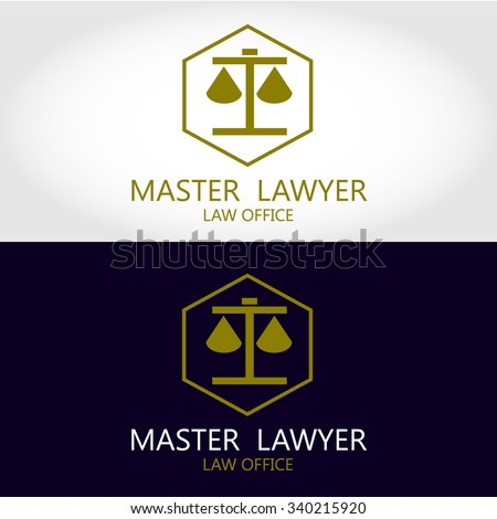 Law office logo  The judge, Law firm logo template,