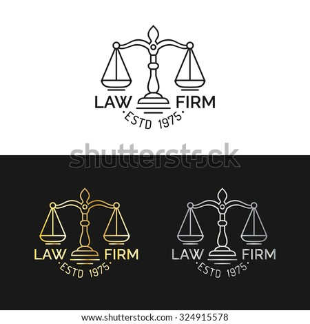 Law Office Logo Scales Justice Illustration Stock Vector ...
