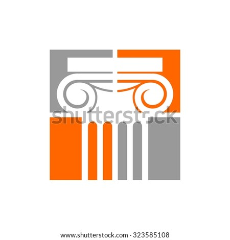 Law Pillar - stock vector