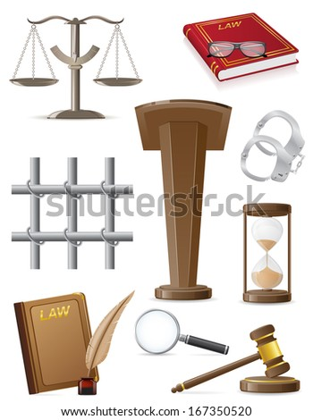 law set icons vector illustration isolated on white background - stock vector