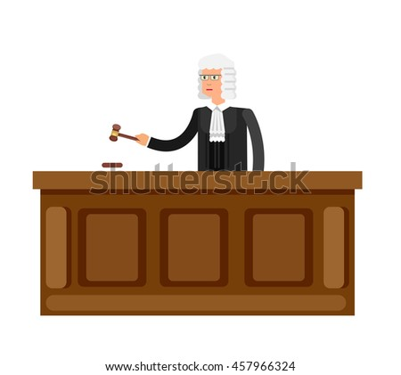 Law Vector detailed character isolated on white background