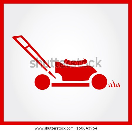 Lawn Mower Vector Free Download Lawn Mower Symbol Vector