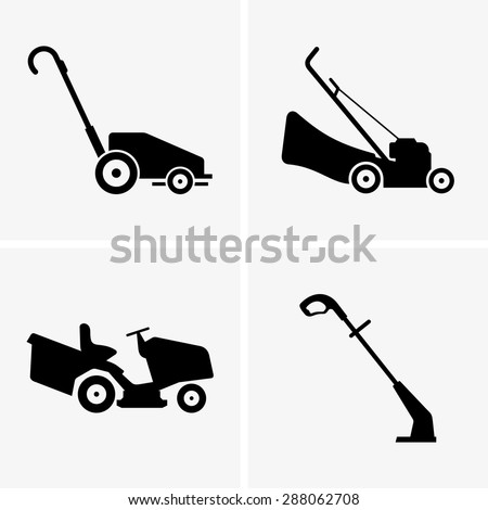 lawn mower vector - photo #20