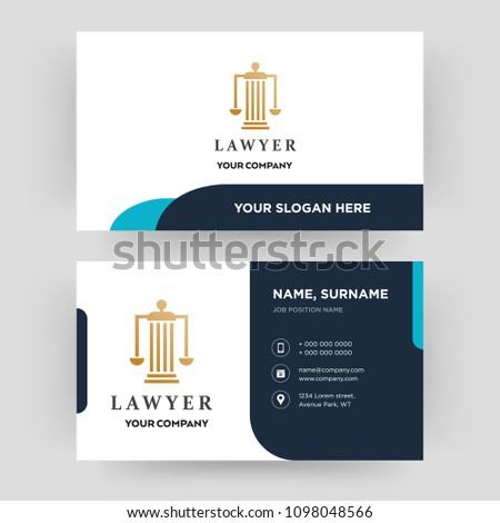 Lawyer business card design template visiting stock vector royalty lawyer business card design template visiting for your company modern creative and clean flashek Choice Image