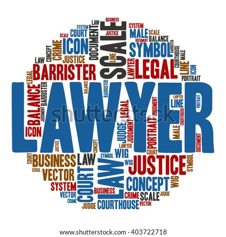 Lawyer ,Word cloud art  background