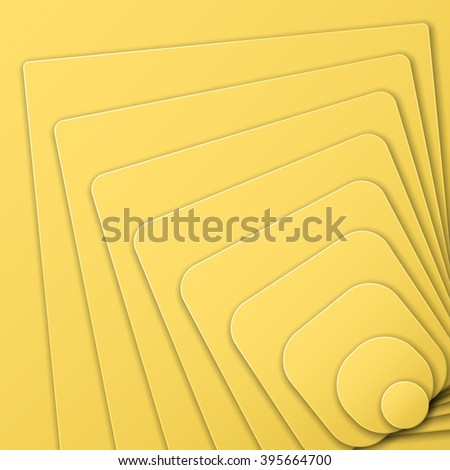 Layered pyramid of the figures in Optical Art style a view from the top. Vector illustration. - stock vector