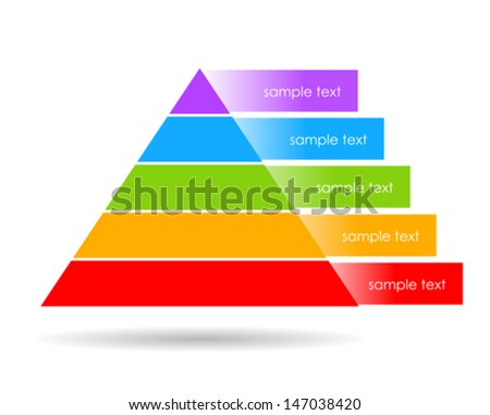 Layered pyramid vector illustration - stock vector