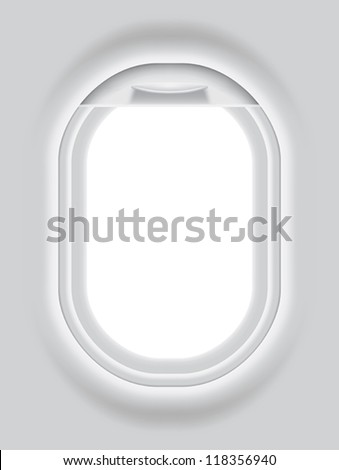 Layered vector illustration of Aircraft's Porthole.