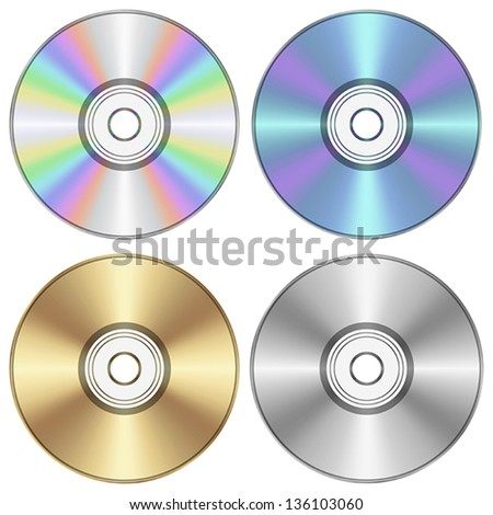 Layered vector illustration of CD. - stock vector
