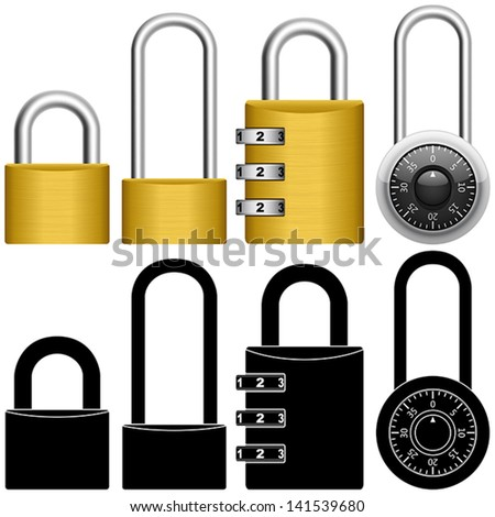 Layered vector illustration of collected Padlock.