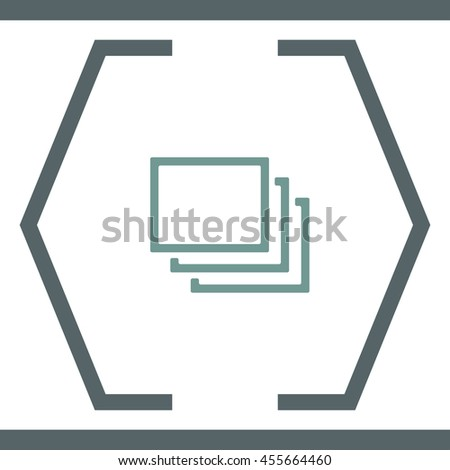 Layers sign vector icon. Multitasking symbol