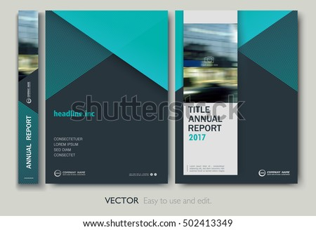 layout design layout annual report flyer presentation brochure stock vector
