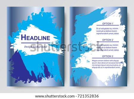 layout brochures flyers background abstract brush stock vector