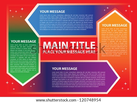 Layout design for progress circle with different colors. Vector illustration. - stock vector