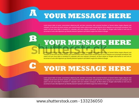 Layout design of banners with own area for text. Vector illustration.