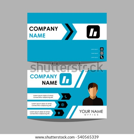 layout design template id card business stock vector 540565339