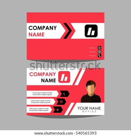 Layout design template id card business stock vector 2018 layout design template id card and business card friedricerecipe Gallery