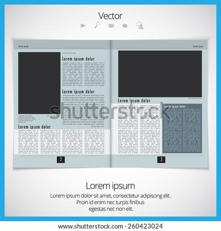 Layout magazine. Editable vector  - stock vector