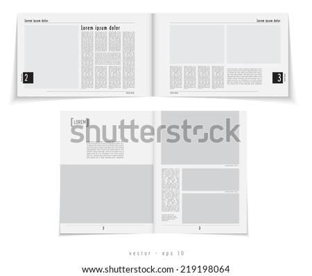 Layout magazine, vector  - stock vector