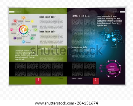 Layout magazine. Vector  - stock vector