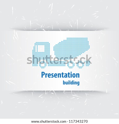 Layout presentation for the construction industry. - stock vector