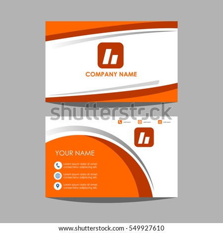 Layout template id card business card stock vector 549927610 layout template id card and business card design wajeb Gallery