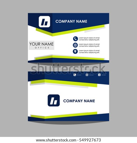 Layout Template Id Card Business Card Stock Vector Royalty Free - Business card layout template