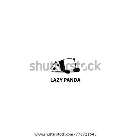 Lazy Panda Icon Logo Design Stock Vector 776721643 Shutterstock