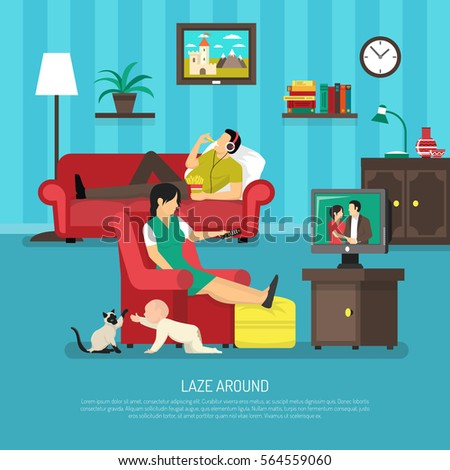 Spending Free Time Together Barbecuing Best Stock Vector 344607512 Shutterstock