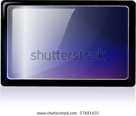 LCD Display - stock vector
