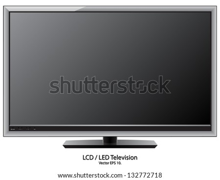 LCD / LED TV Vector Illustration, EPS 10. - stock vector