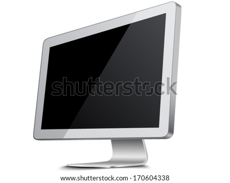 LCD monitor - stock vector