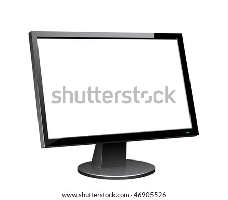 Lcd monitor, for similar images please visit my portfolio - stock vector