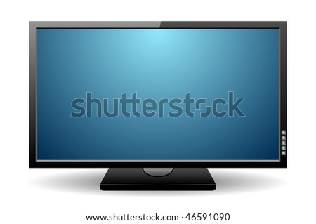 LCD monitor. Illustration of display on a white background.